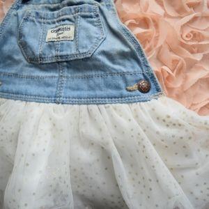Overalls & tulle skirt